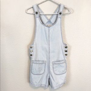 ASOS Overalls White/Light Wash Denim XS